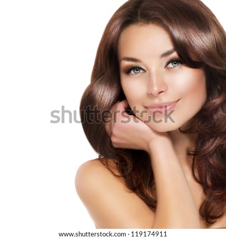 beautiful brunette woman