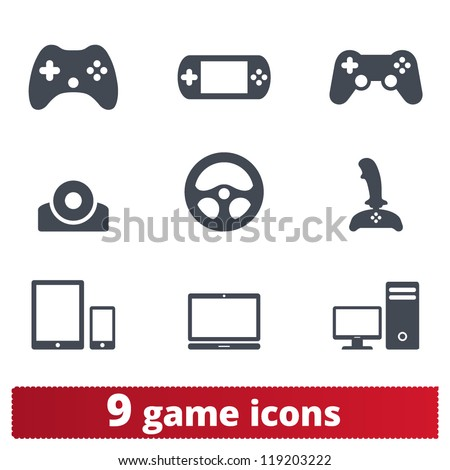 game icons  vector set of