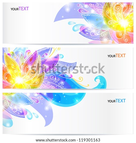 shining flowers vector