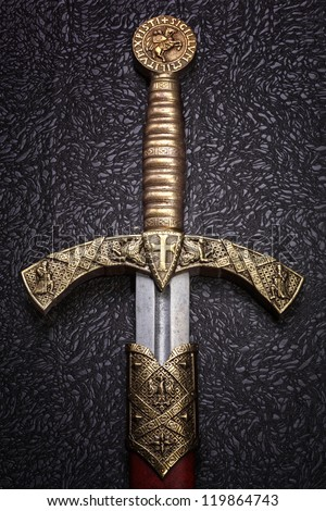 ancient sword with the bronze