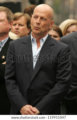 bruce willis at the ceremony