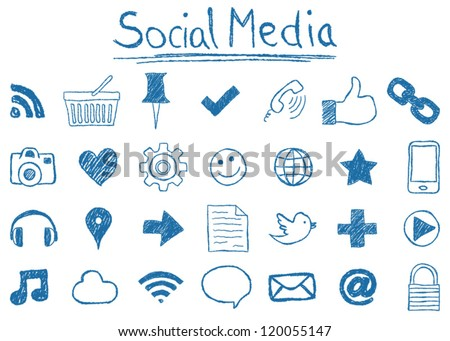 illustration of social media