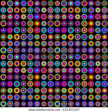 colorful psychedelic circles on