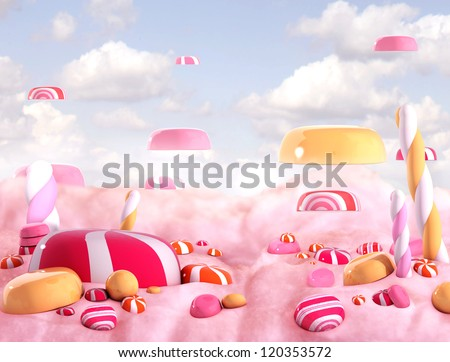 candy land  high quality 3d
