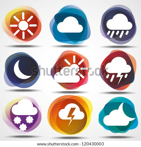 weather icons set eps10 image