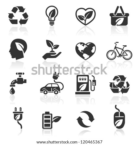 ecology icons set1 vector