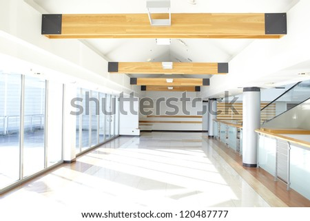 corridor in office building
