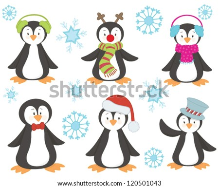 Penguin clip art free vector