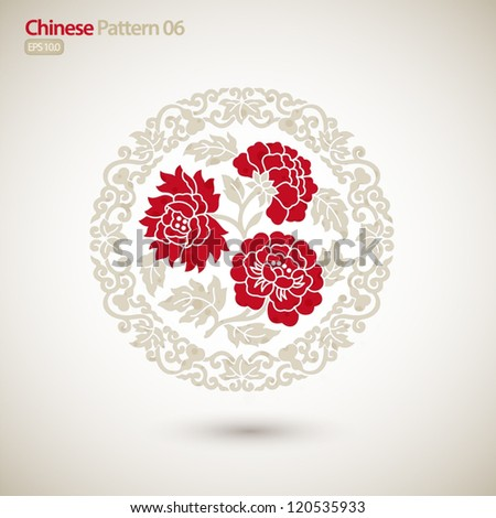 chinese vintage pattern with
