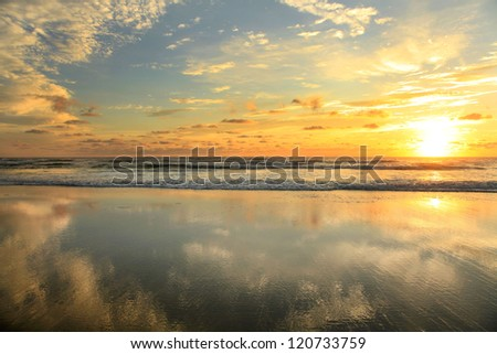 sunrise at the beach centered
