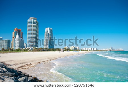 miami beach in florida with