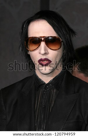 marilyn manson at the world