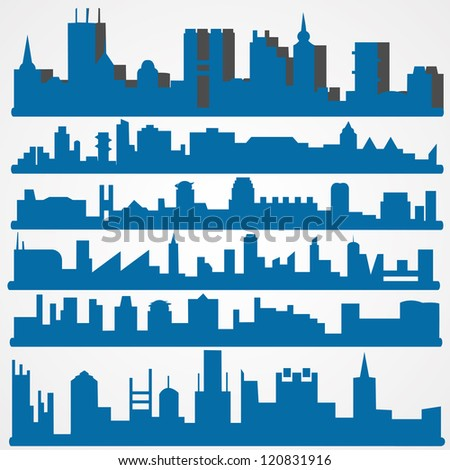set of abstract vector cities