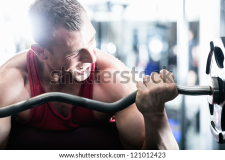 strong man   bodybuilder with