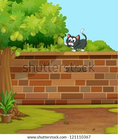 illustration of a cat in a