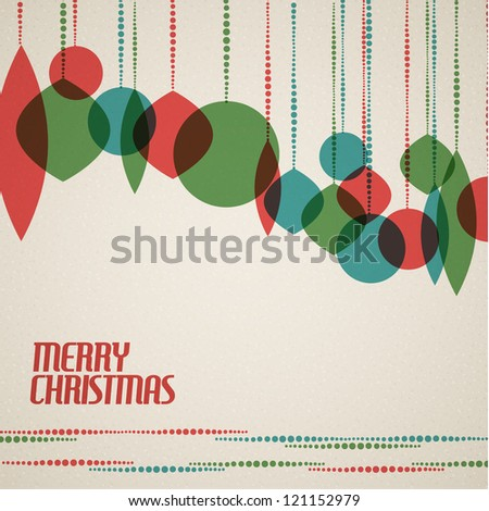 retro christmas card with