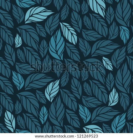 hand drawn seamless foliage