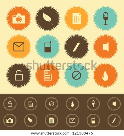 web icons collection    vintage
