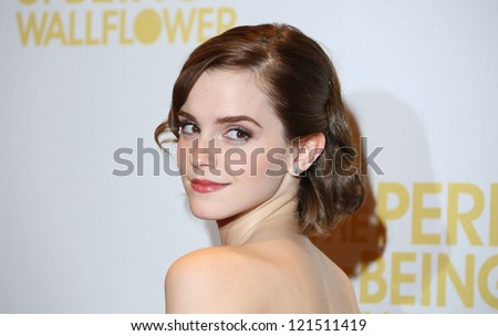 emma watson arriving for the