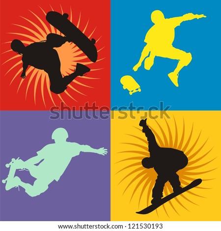 4 style skateboarders