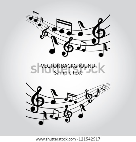 vector musical notes vector
