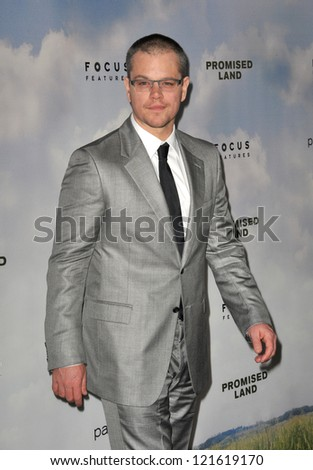matt damon at the los angeles