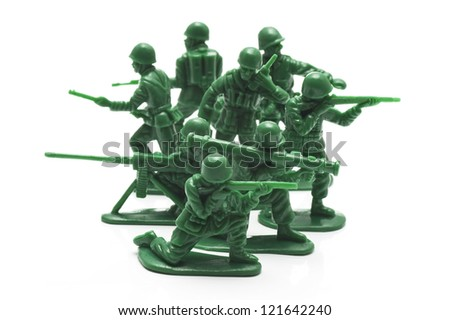 miniature toy soldiers to