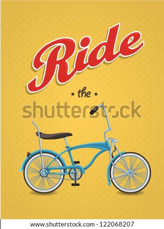 lowrider bike background vector