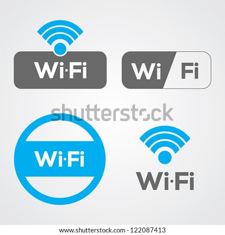 set of four wifi icons for
