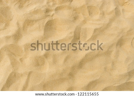 closeup of sand pattern of a