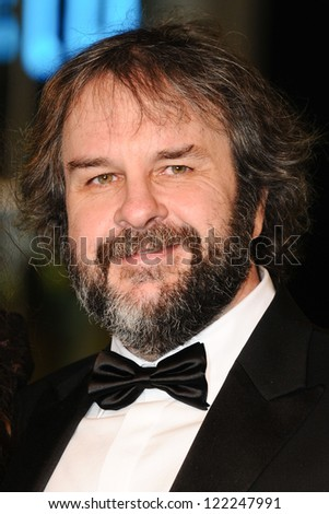 peter jackson arriving for the