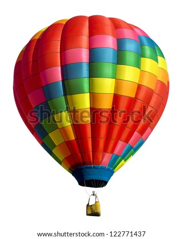 hot air balloon isolated on