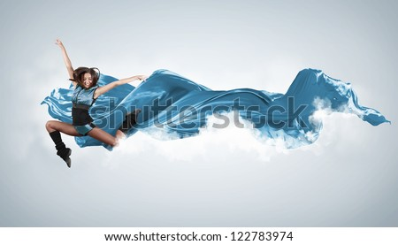 young woman dancer illustration