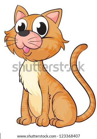 illustration of a smiling cat