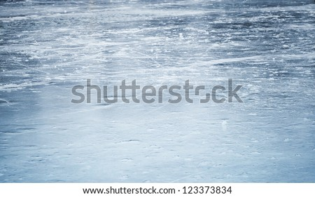 background texture of blue ice