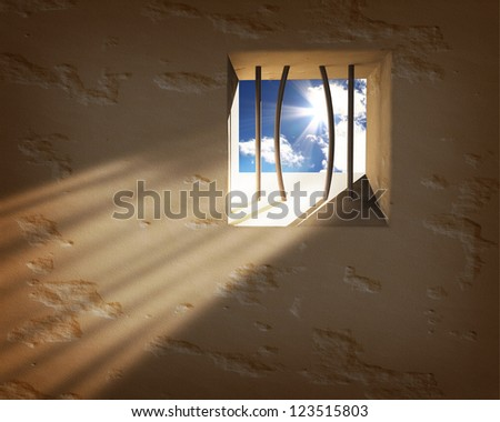 prison window freedom concept