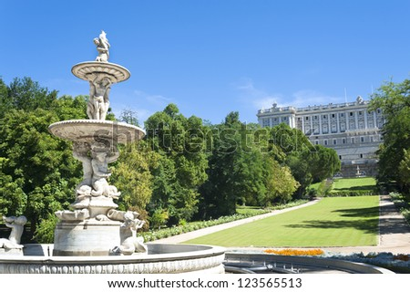 garden in royal palace madrid