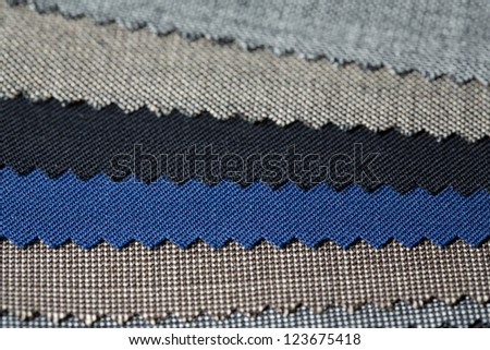 different fabric to be chosen