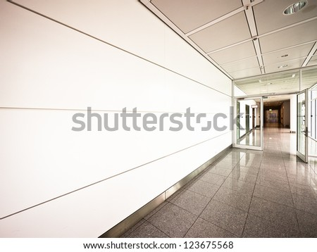 corridor at a building in rome
