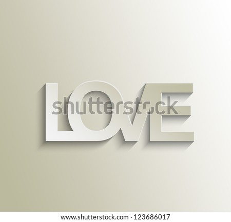 love text  vector