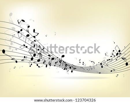 abstract music background with
