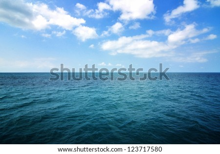blue sea with waves and clear