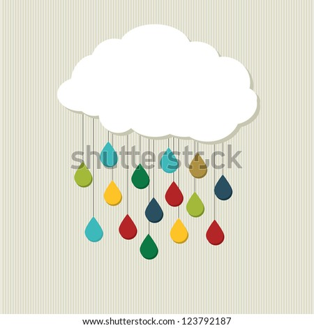 creative cloud abstract vector