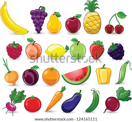 ... and Cliparts: Cartoon vegetables and fruits | Hqvectors.com