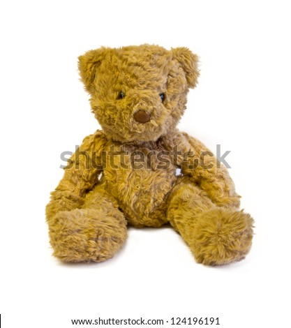 brown teddy bear isolated on