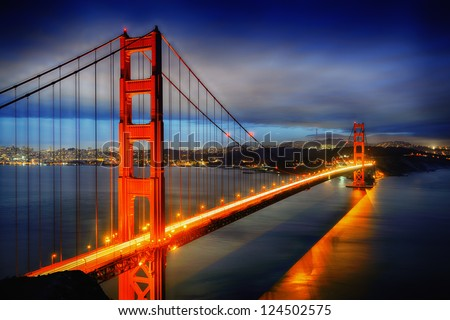 famous golden gate bridge  san