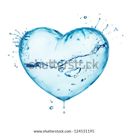 heart from water splash with