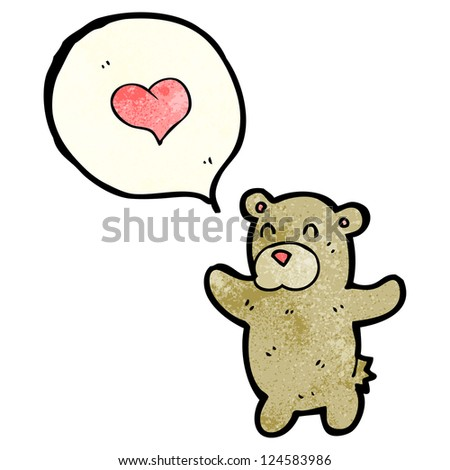 cartoon teddy bear with love