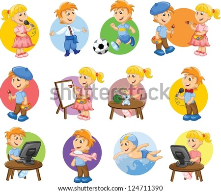 cartoon characters footballer