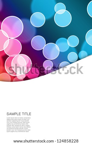 abstract bubble background with